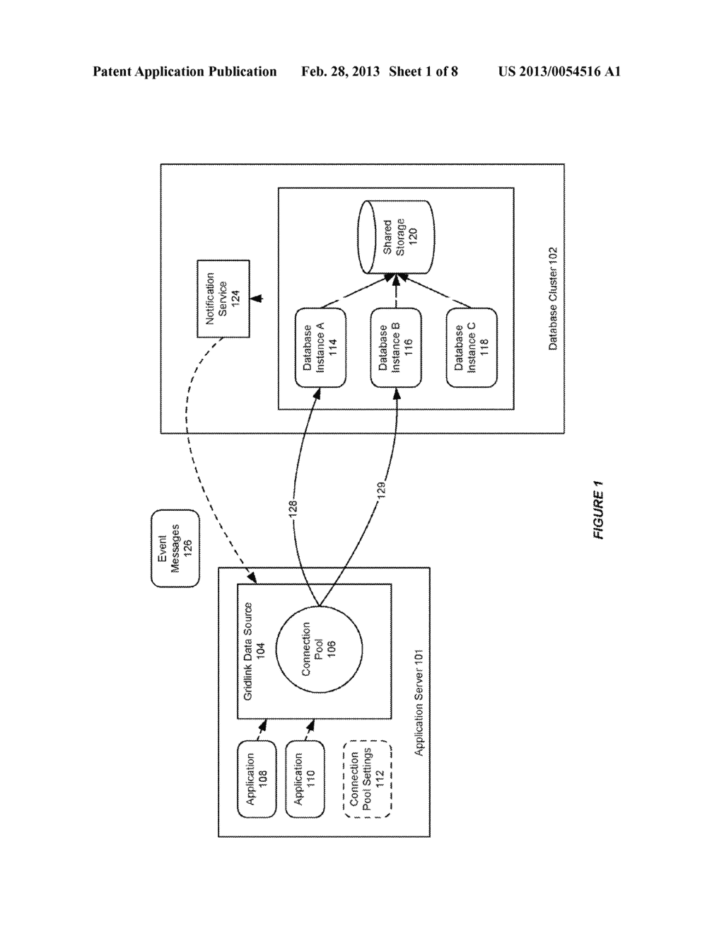 SYSTEM AND METHOD FOR PROVIDING SESSION AFFINITY IN A CLUSTERED DATABASE     ENVIRONMENT - diagram, schematic, and image 02