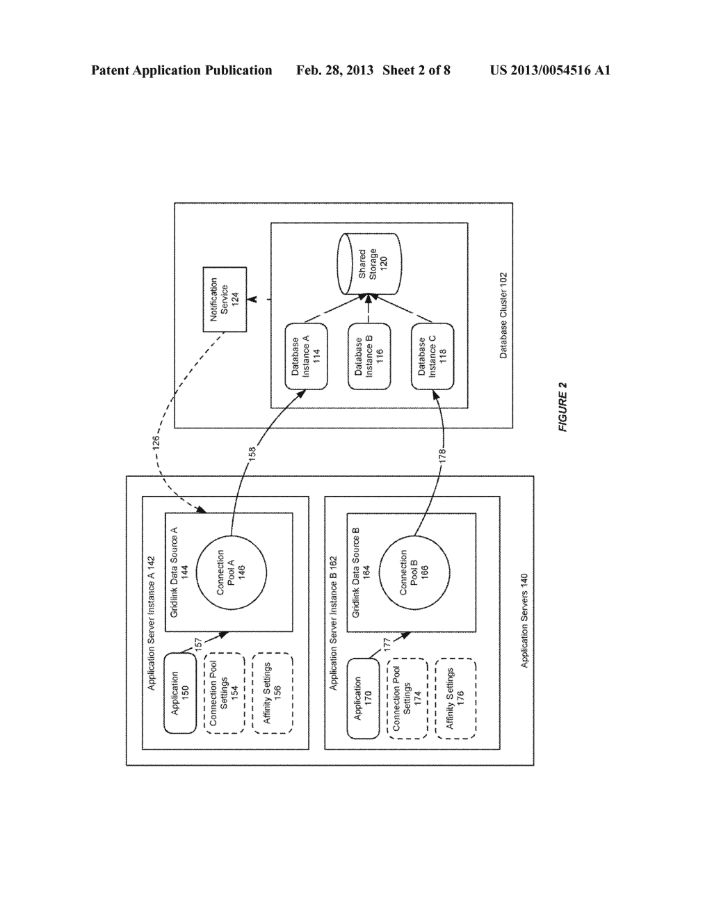 SYSTEM AND METHOD FOR PROVIDING SESSION AFFINITY IN A CLUSTERED DATABASE     ENVIRONMENT - diagram, schematic, and image 03