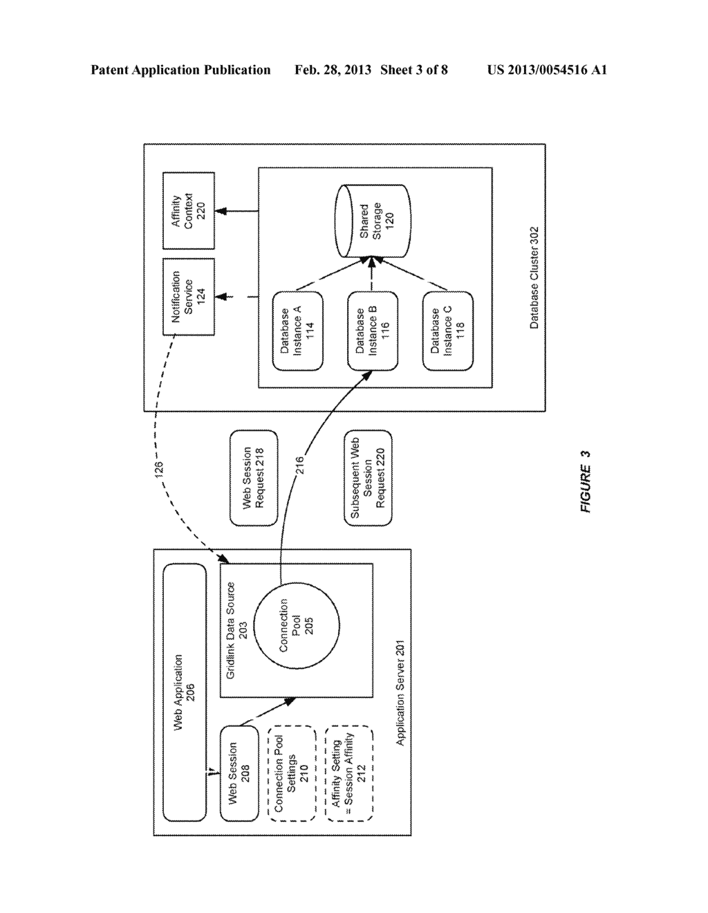 SYSTEM AND METHOD FOR PROVIDING SESSION AFFINITY IN A CLUSTERED DATABASE     ENVIRONMENT - diagram, schematic, and image 04