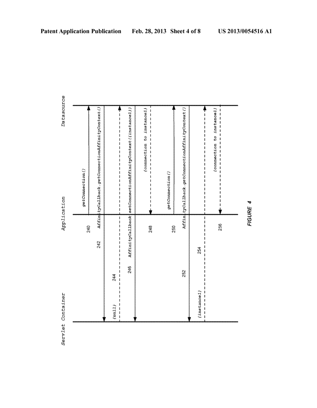SYSTEM AND METHOD FOR PROVIDING SESSION AFFINITY IN A CLUSTERED DATABASE     ENVIRONMENT - diagram, schematic, and image 05