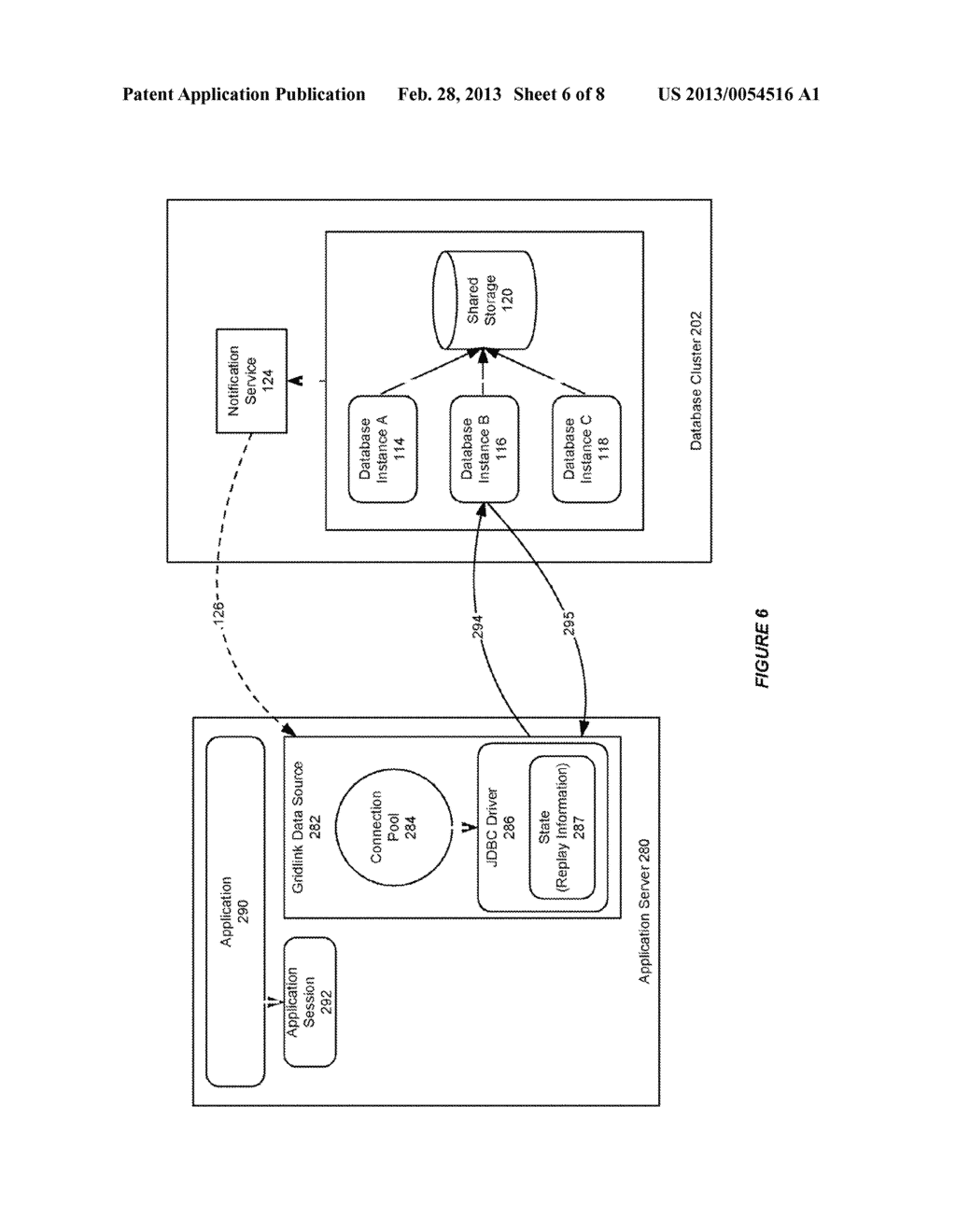 SYSTEM AND METHOD FOR PROVIDING SESSION AFFINITY IN A CLUSTERED DATABASE     ENVIRONMENT - diagram, schematic, and image 07