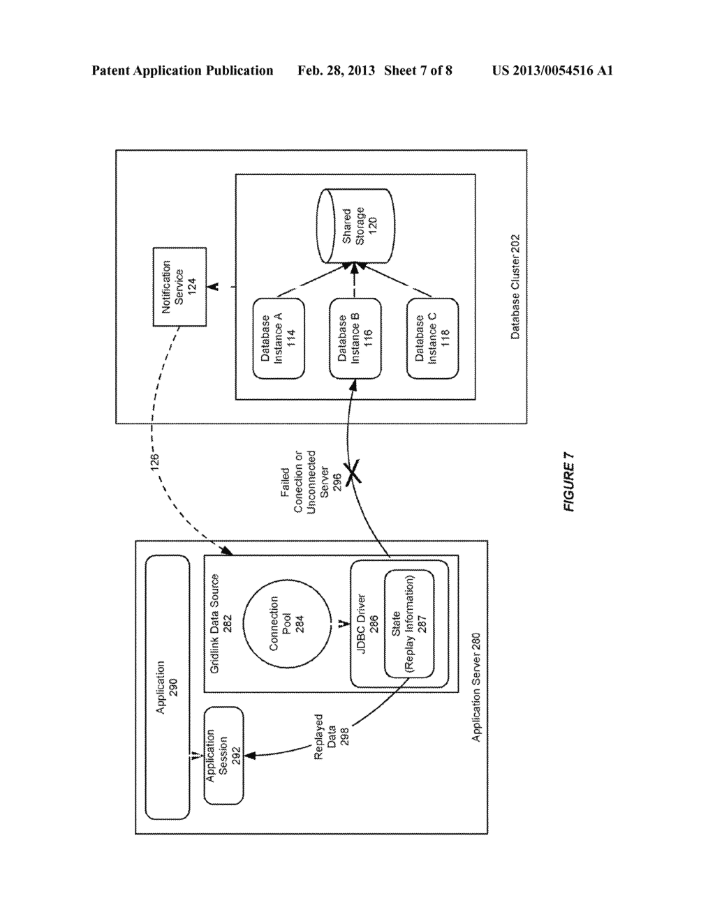 SYSTEM AND METHOD FOR PROVIDING SESSION AFFINITY IN A CLUSTERED DATABASE     ENVIRONMENT - diagram, schematic, and image 08