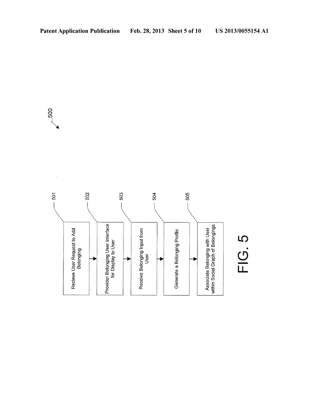 User Graphical Interface for Displaying a Belonging-Related Stream - diagram, schematic, and image 06