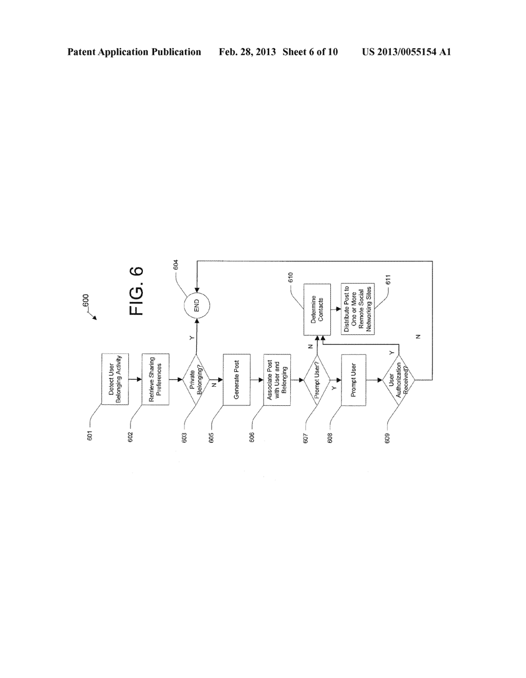 User Graphical Interface for Displaying a Belonging-Related Stream - diagram, schematic, and image 07