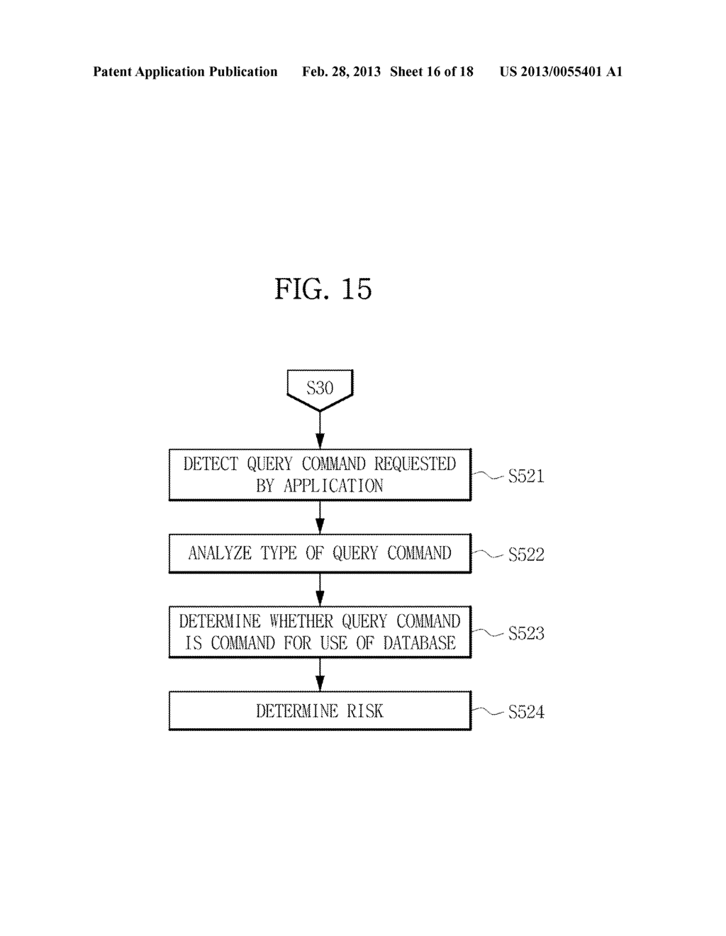TERMINAL AND METHOD FOR PROVIDING RISK OF APPLICATION USING THE SAME - diagram, schematic, and image 17