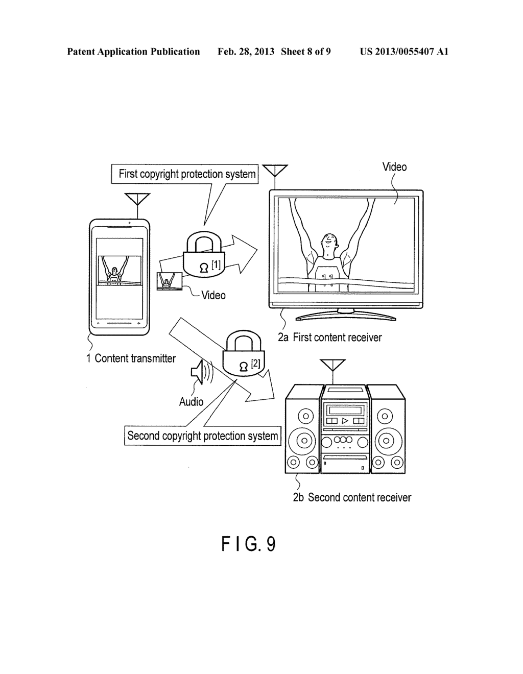 ELECTRONIC DEVICE AND METHOD OF TRANSMITTING CONTENT ITEM - diagram, schematic, and image 09
