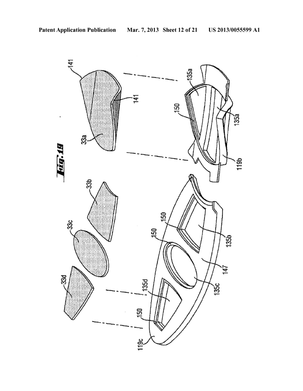 Shoe-Reinforcement Material and Barrier Unit, Composite Shoe Sole, and     Footwear Constituted Thereof - diagram, schematic, and image 13