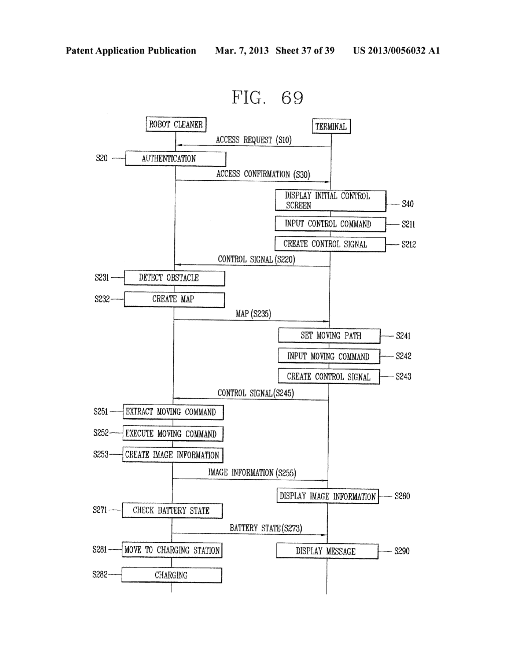ROBOT CLEANER, AND SYSTEM AND METHOD FOR REMOTELY CONTROLLING THE SAME - diagram, schematic, and image 38