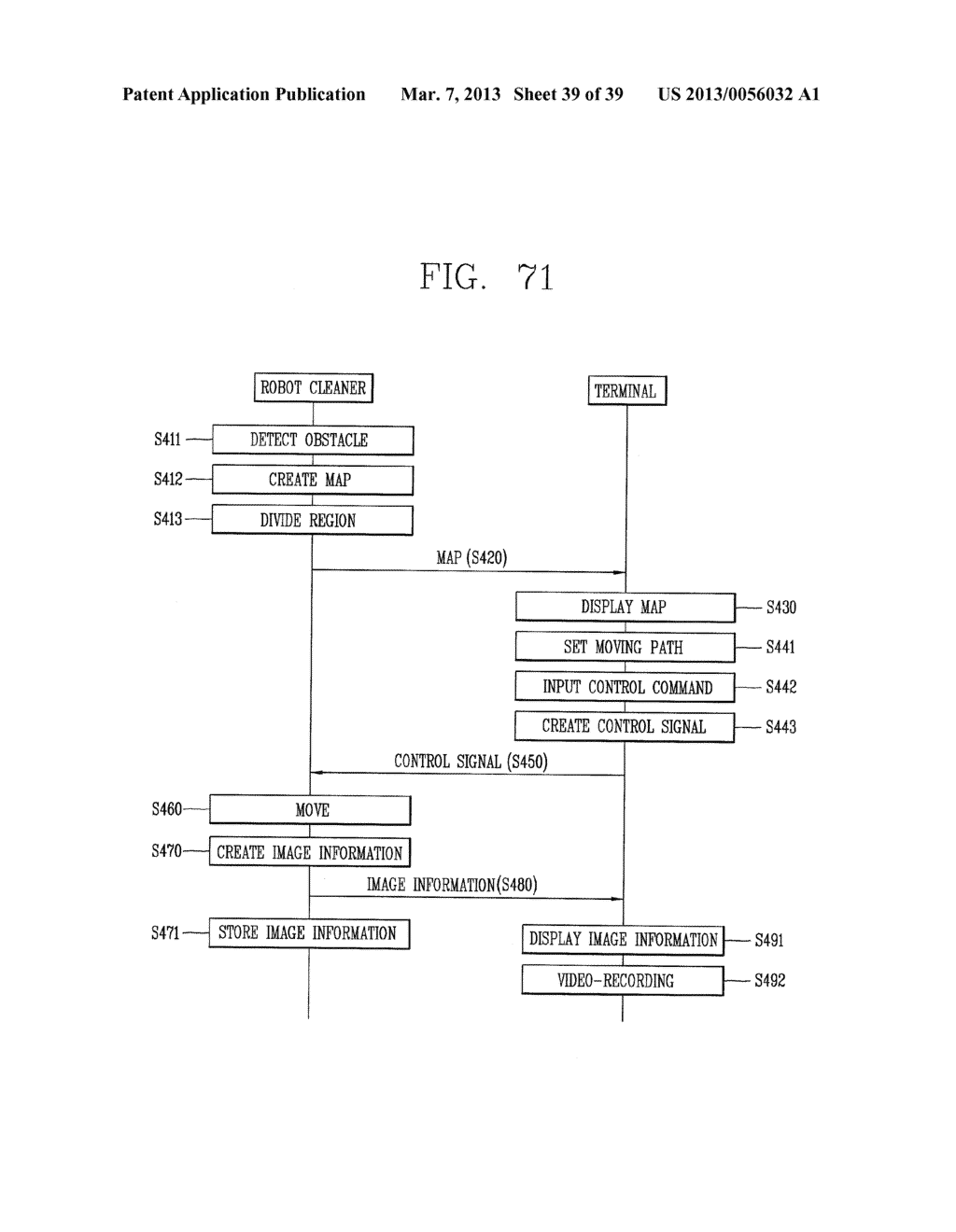 ROBOT CLEANER, AND SYSTEM AND METHOD FOR REMOTELY CONTROLLING THE SAME - diagram, schematic, and image 40