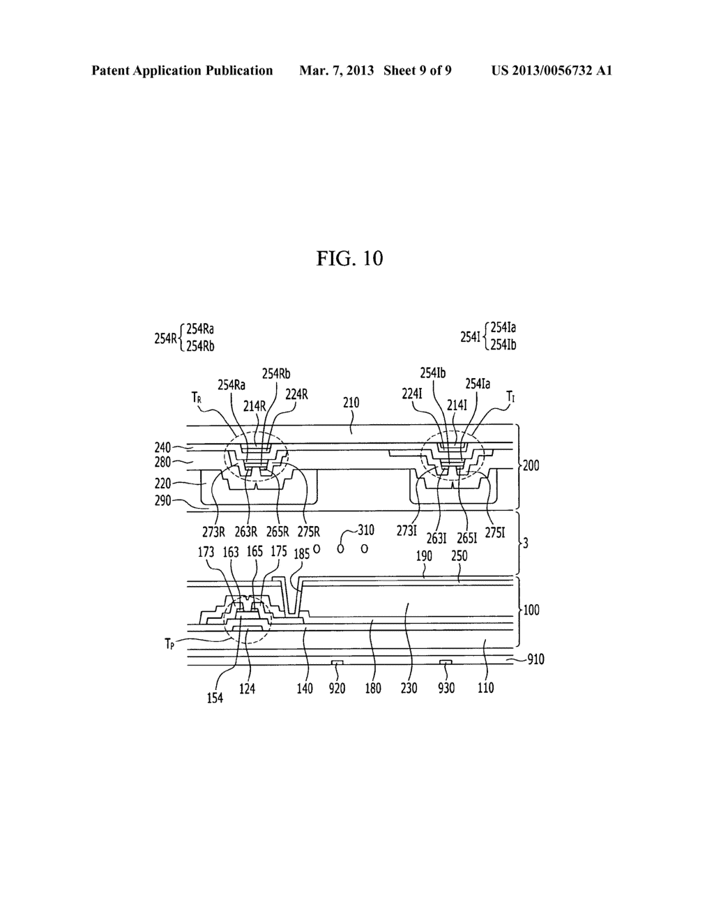 DISPLAY DEVICE AND MANUFACTURING METHOD THEREOF - diagram, schematic, and image 10