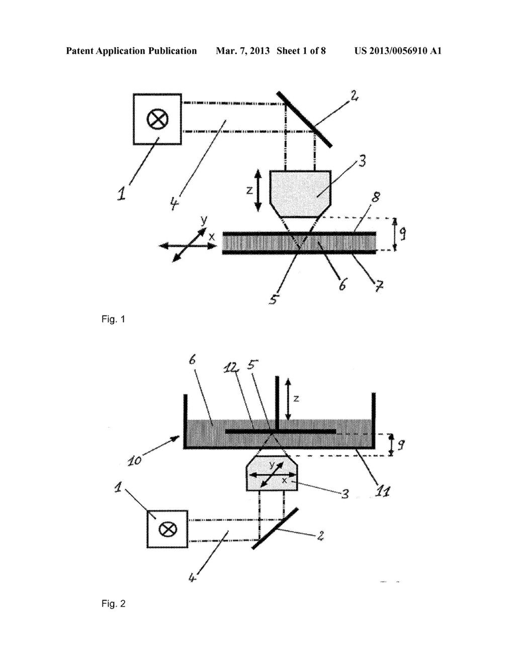DEVICE AND METHOD FOR PRODUCING THREE-DIMENSIONAL STRUCTURES - diagram, schematic, and image 02