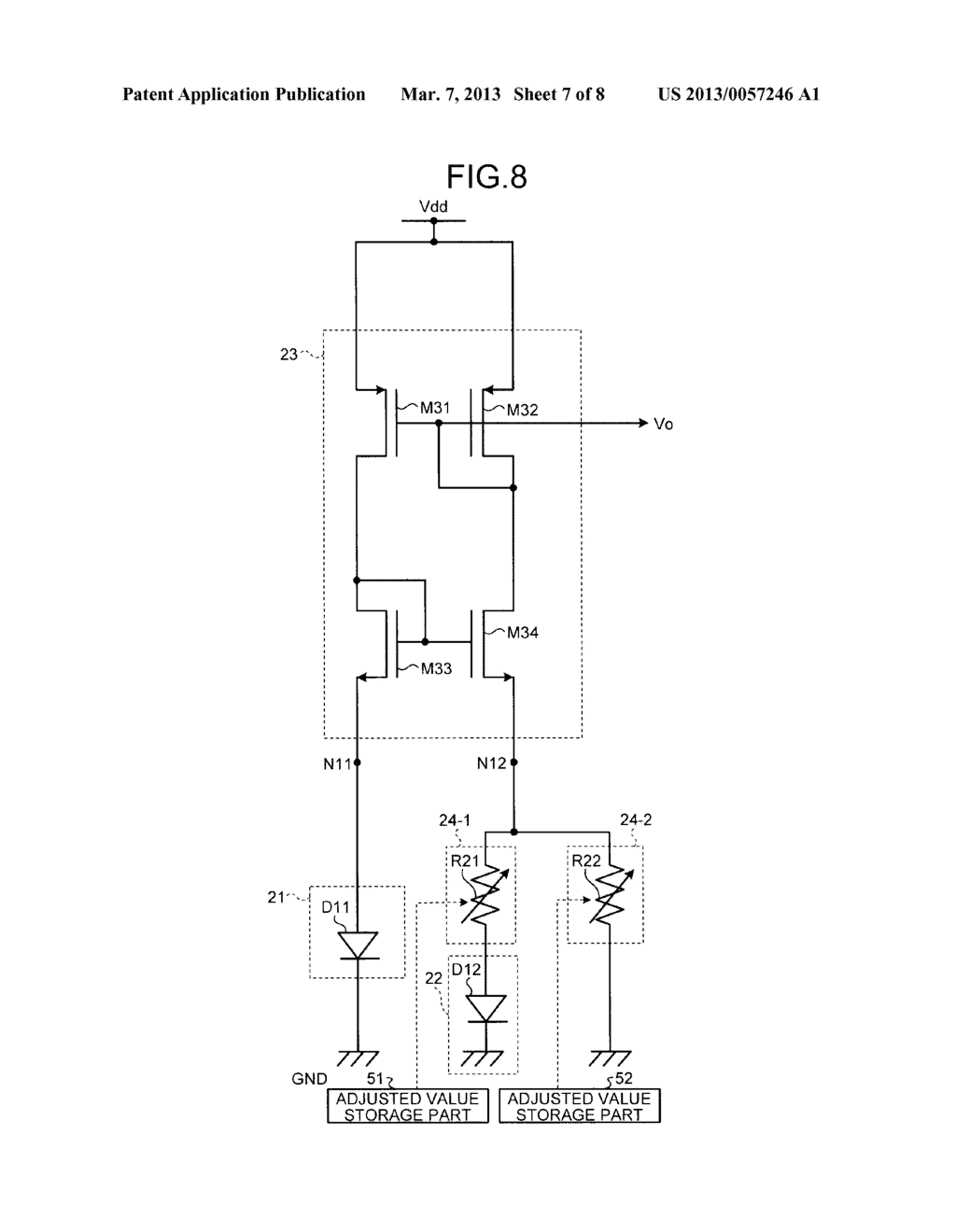 REFERENCE SIGNAL GENERATING CIRCUIT - diagram, schematic, and image 08