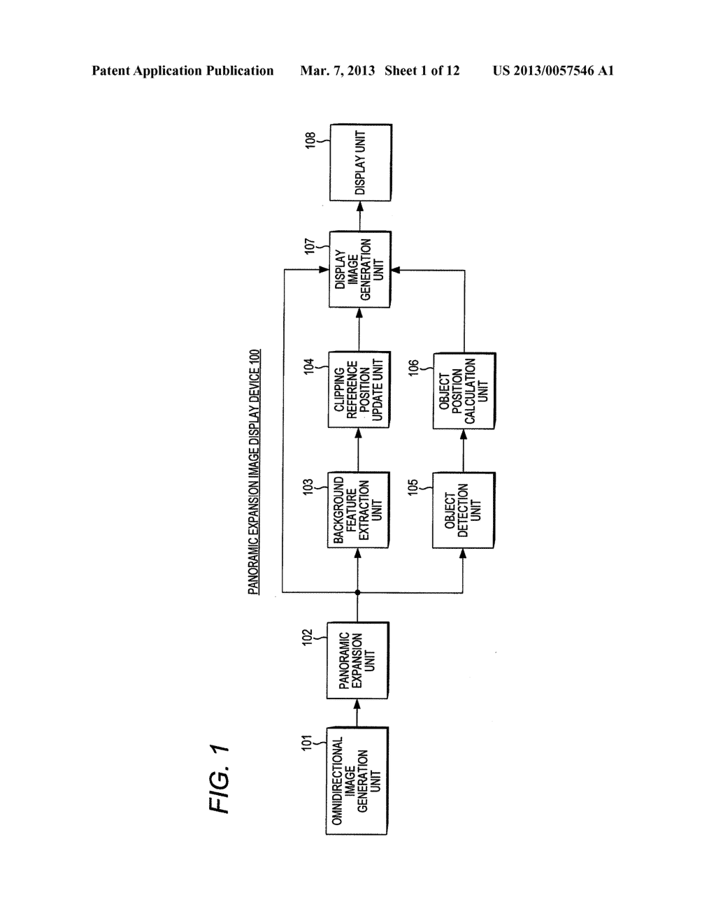 PANORAMIC EXPANSION IMAGE DISPLAY DEVICE AND METHOD OF DISPLAYING     PANORAMIC EXPANSION IMAGE - diagram, schematic, and image 02