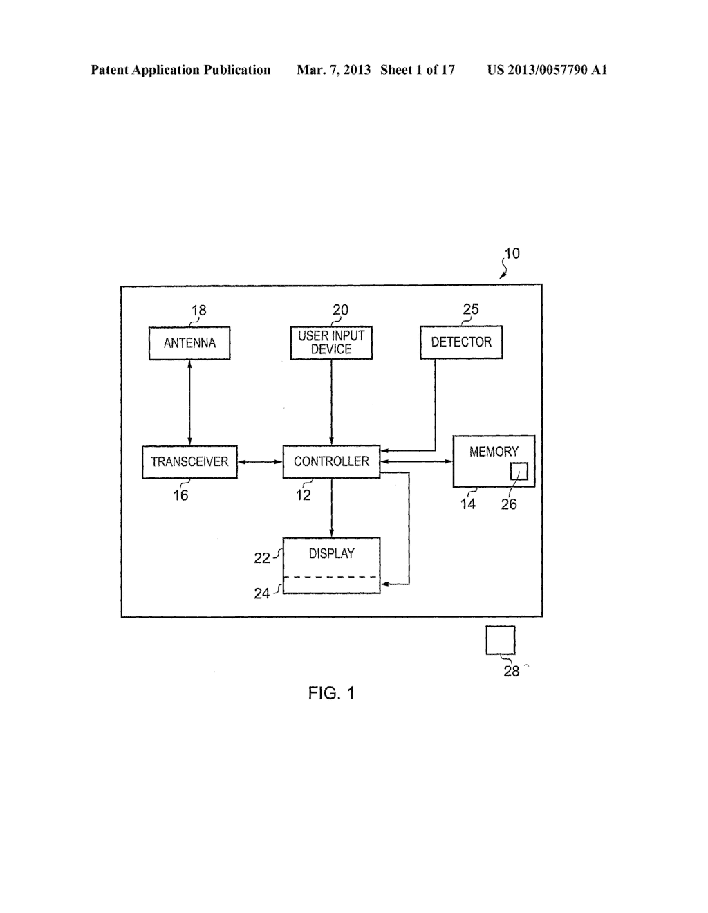 Apparatus, Methods and Computer Programs for configuring Output of a     Display - diagram, schematic, and image 02