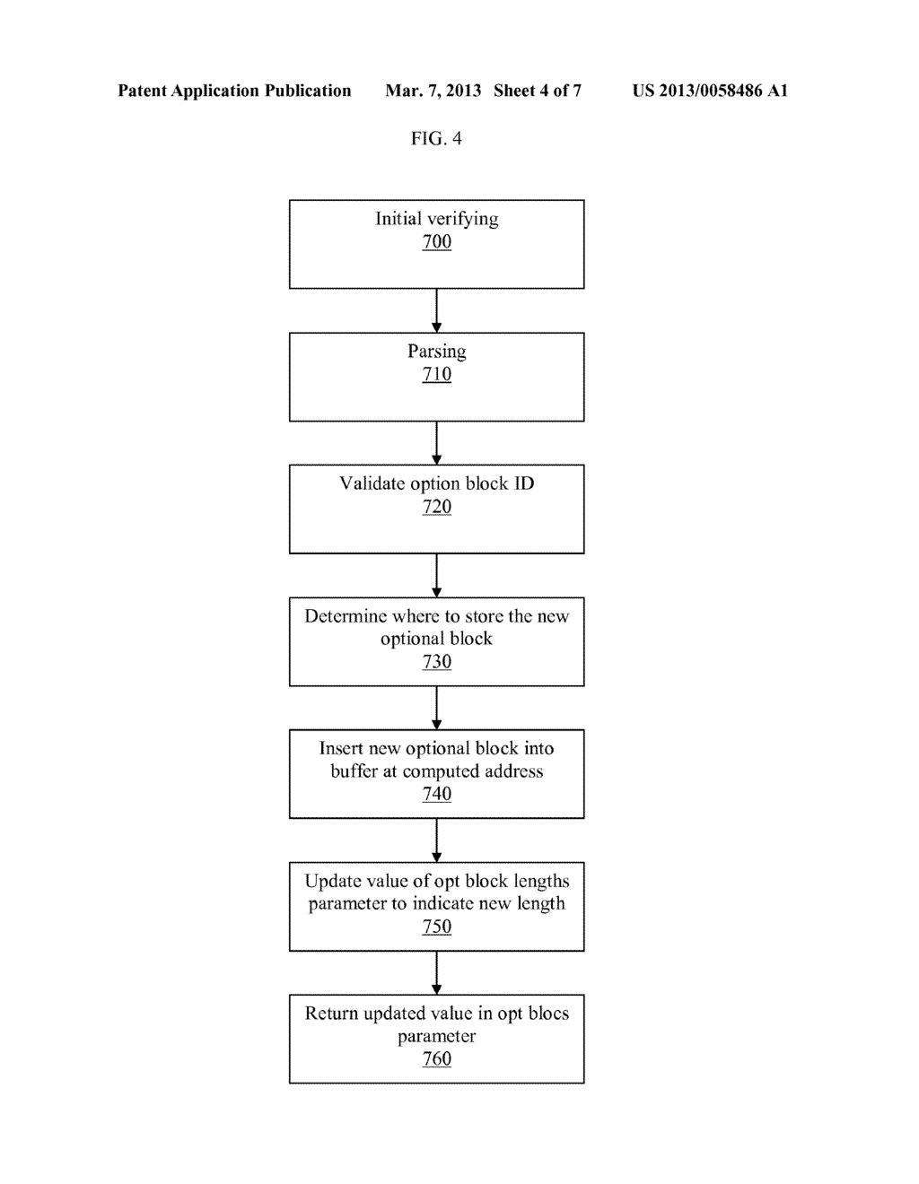 METHOD OF PROTECTING A CONTROL VECTOR IN AN OPTIONAL BLOCK OF A STANDARD     KEY BLOCK - diagram, schematic, and image 05