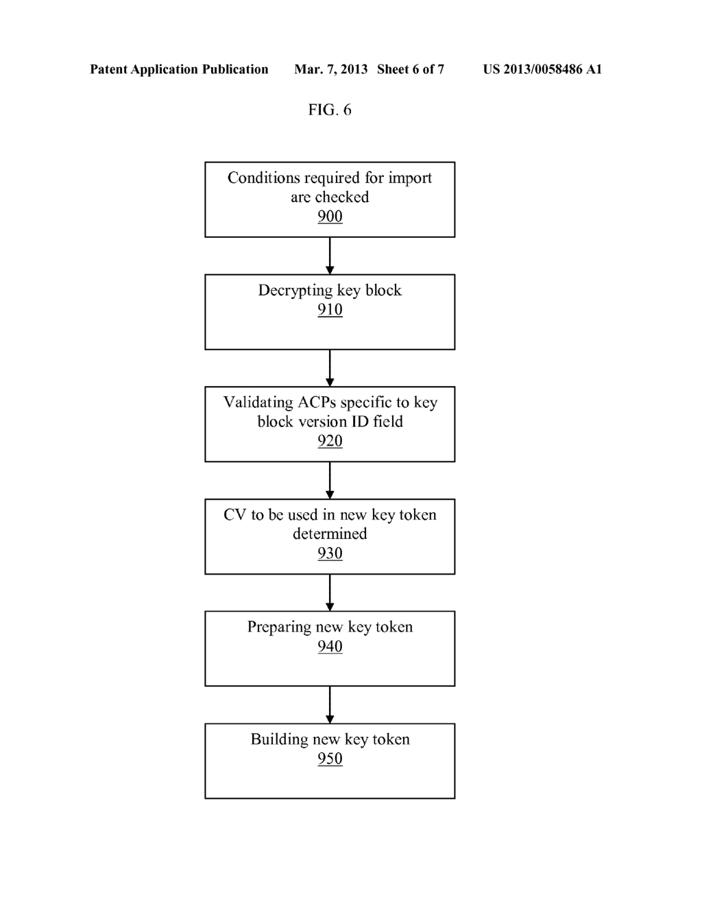 METHOD OF PROTECTING A CONTROL VECTOR IN AN OPTIONAL BLOCK OF A STANDARD     KEY BLOCK - diagram, schematic, and image 07