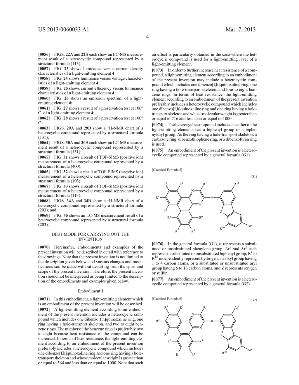 LIGHT-EMITTING ELEMENT, LIGHT-EMITTING DEVICE, ELECTRONIC DEVICE, LIGHTING     DEVICE, AND HETEROCYCLIC COMPOUND - diagram, schematic, and image 34