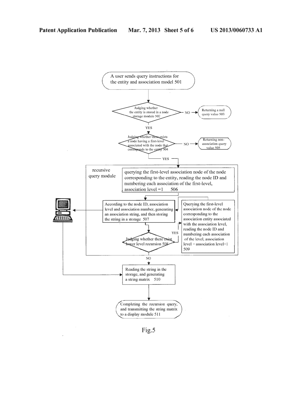 METHOD AND QUERYING AND CONTROLLING DATABASE - diagram, schematic, and image 06
