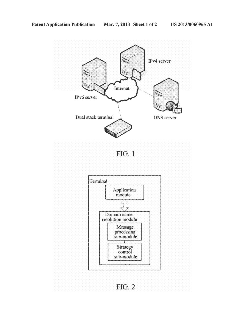Method and Terminal for Improving Domain Name Resolution Efficiency - diagram, schematic, and image 02