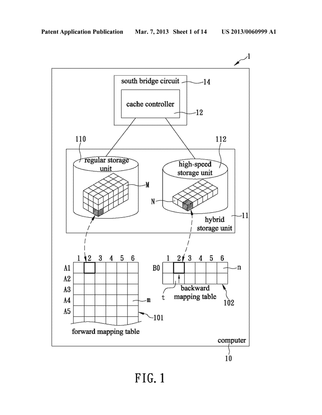SYSTEM AND METHOD FOR INCREASING READ AND WRITE SPEEDS OF HYBRID STORAGE     UNIT - diagram, schematic, and image 02