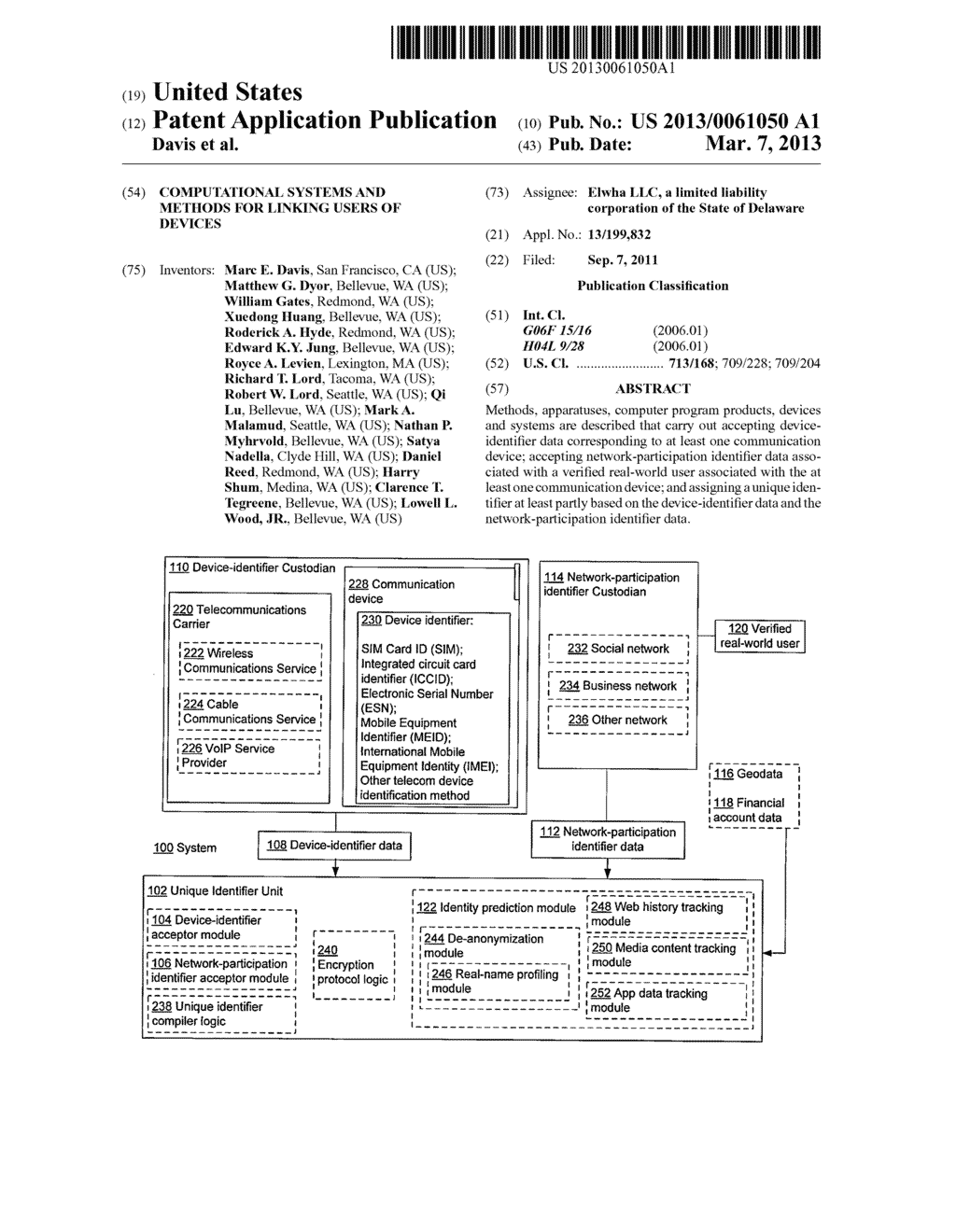 Computational systems and methods for linking users of devices - diagram, schematic, and image 01