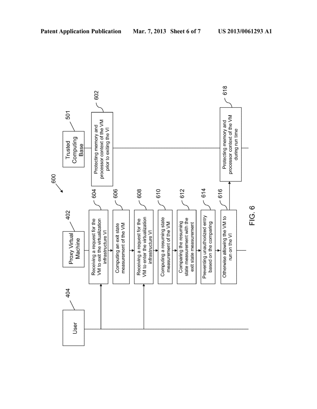 METHOD AND APPARATUS FOR SECURING THE FULL LIFECYCLE OF A VIRTUAL MACHINE - diagram, schematic, and image 07