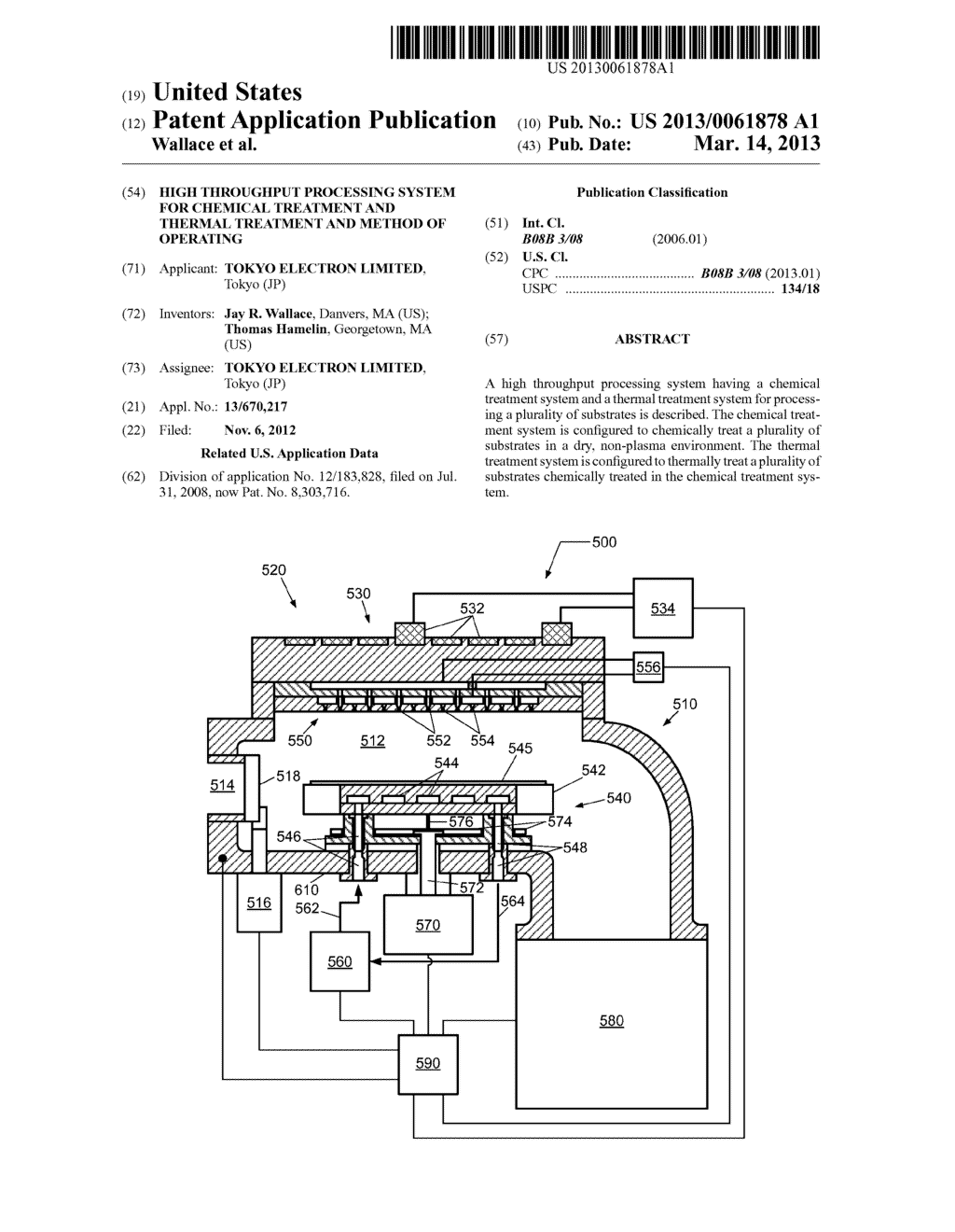 HIGH THROUGHPUT PROCESSING SYSTEM FOR CHEMICAL TREATMENT AND THERMAL     TREATMENT AND METHOD OF OPERATING - diagram, schematic, and image 01