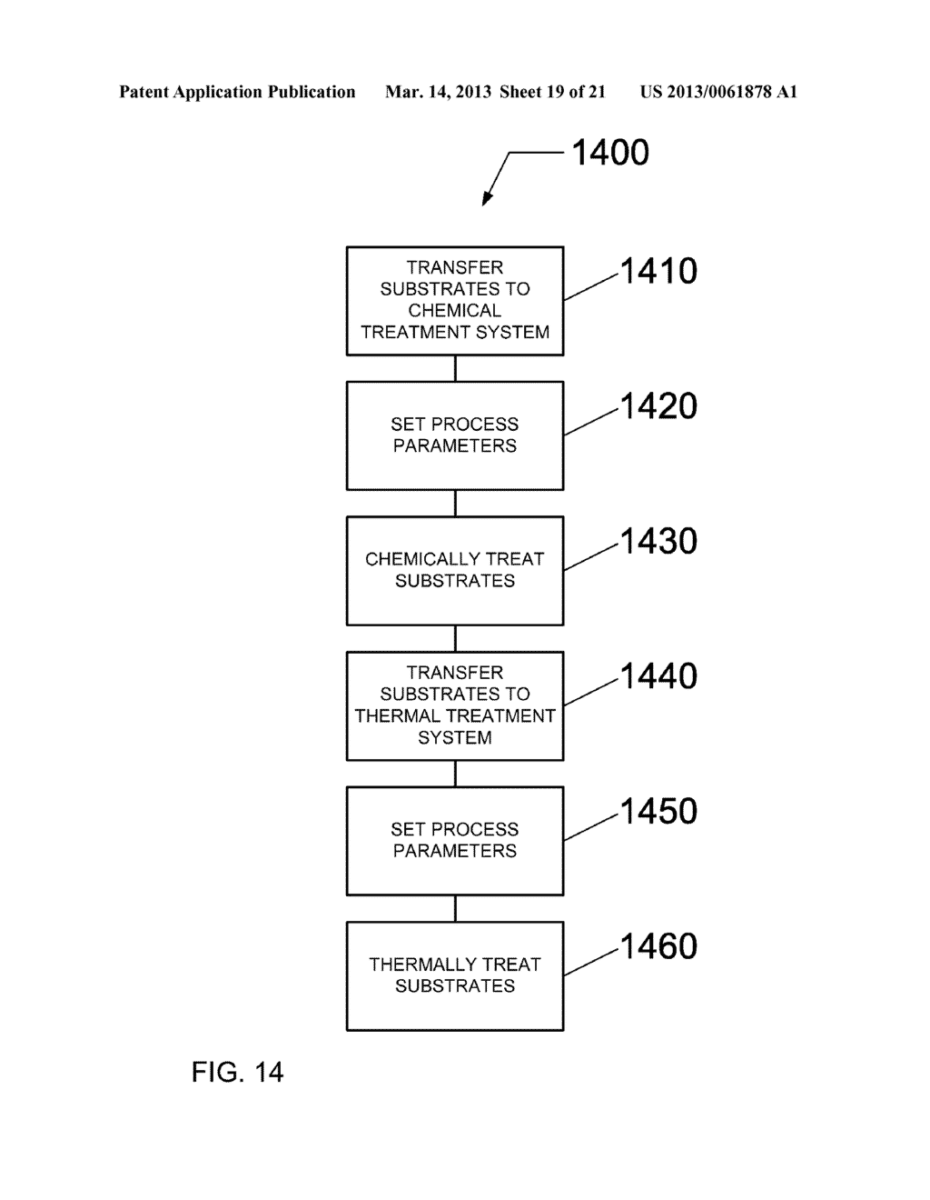 HIGH THROUGHPUT PROCESSING SYSTEM FOR CHEMICAL TREATMENT AND THERMAL     TREATMENT AND METHOD OF OPERATING - diagram, schematic, and image 20