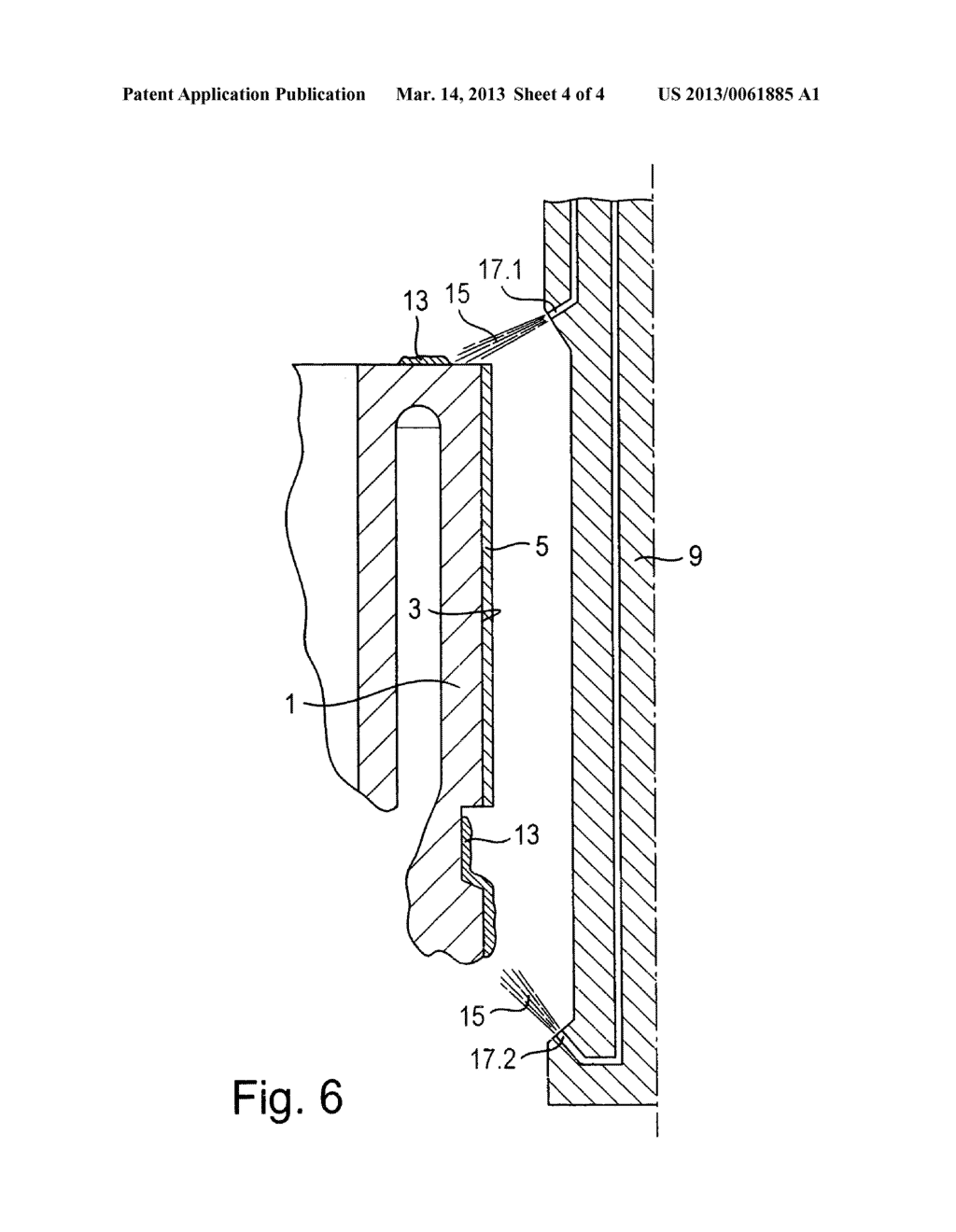 Method for removing overspray of thermal spray coatings - diagram, schematic, and image 05