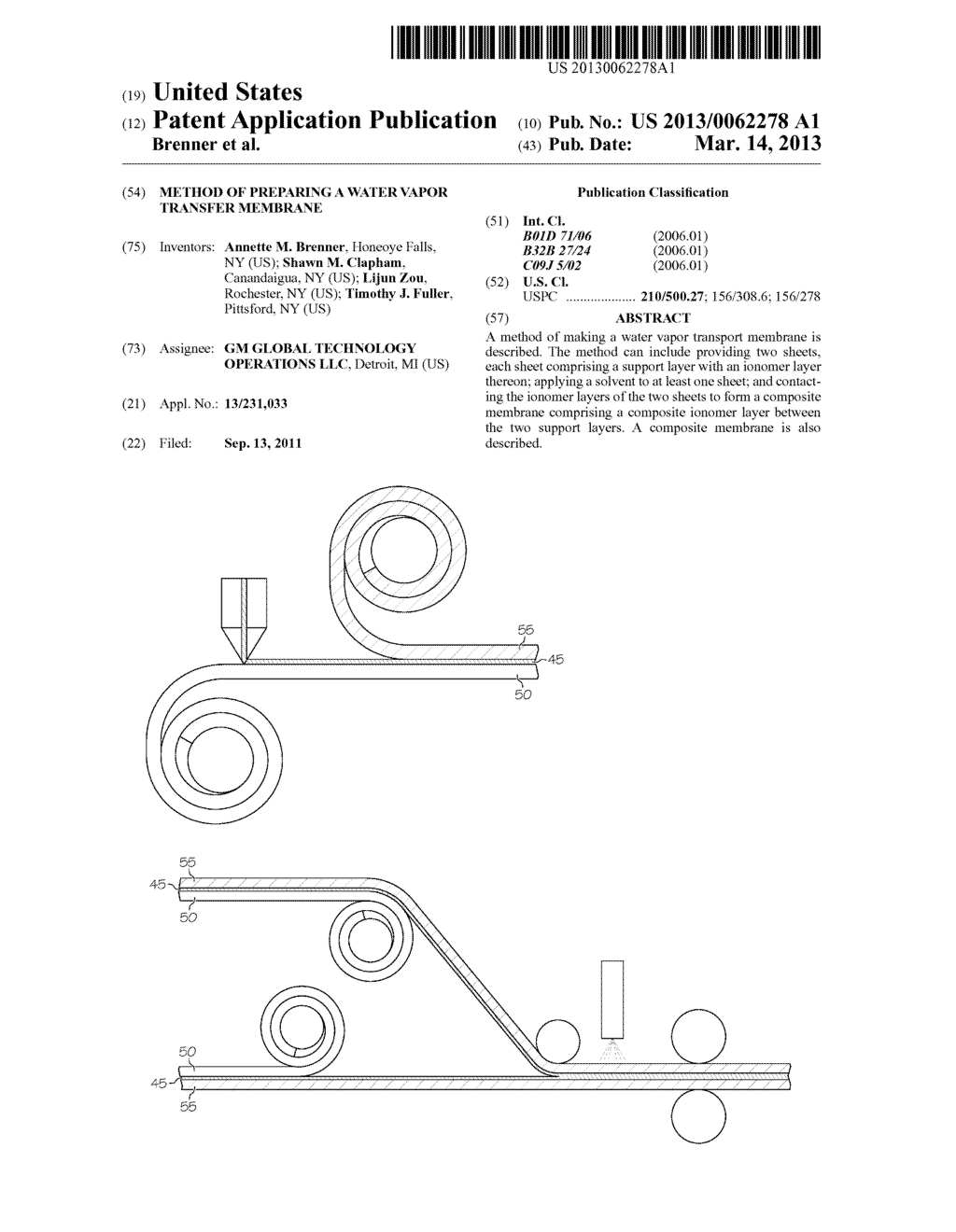 METHOD OF PREPARING A WATER VAPOR TRANSFER MEMBRANE - diagram, schematic, and image 01