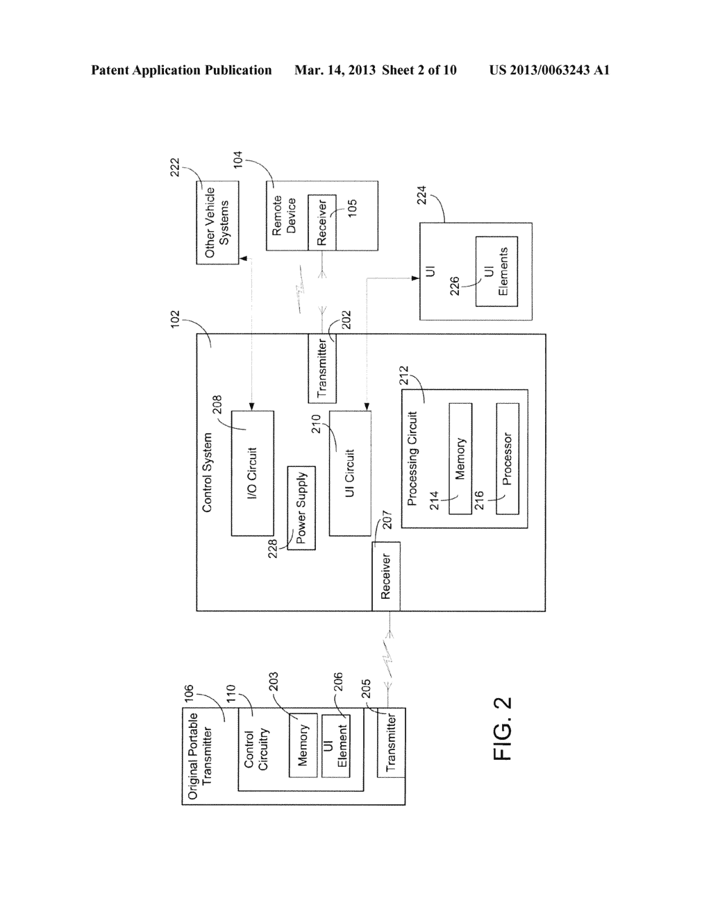 SYSTEMS AND METHODS FOR CONFIGURING AND OPERATING A WIRELESS CONTROL     SYSTEM IN A VEHICLE FOR ACTIVATION OF A REMOTE DEVICE - diagram, schematic, and image 03