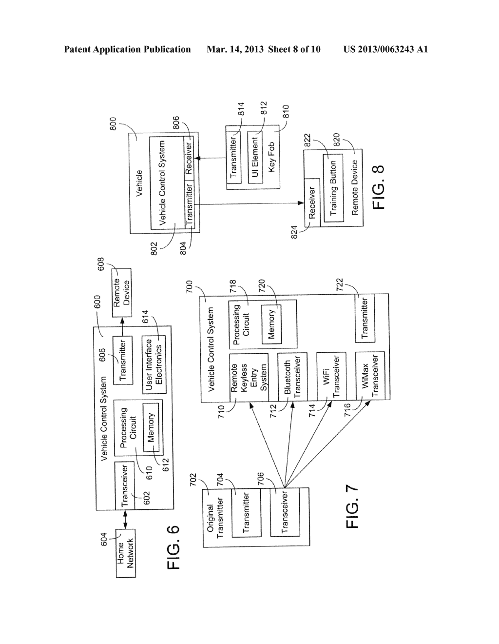 SYSTEMS AND METHODS FOR CONFIGURING AND OPERATING A WIRELESS CONTROL     SYSTEM IN A VEHICLE FOR ACTIVATION OF A REMOTE DEVICE - diagram, schematic, and image 09