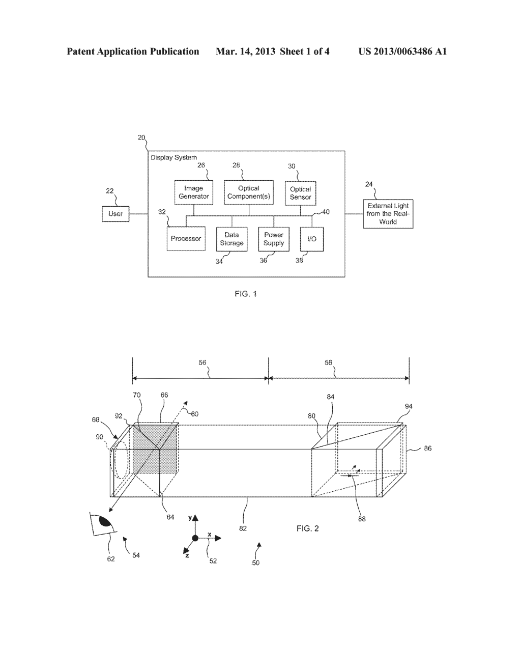 Optical Display System and Method with Virtual Image Contrast Control - diagram, schematic, and image 02