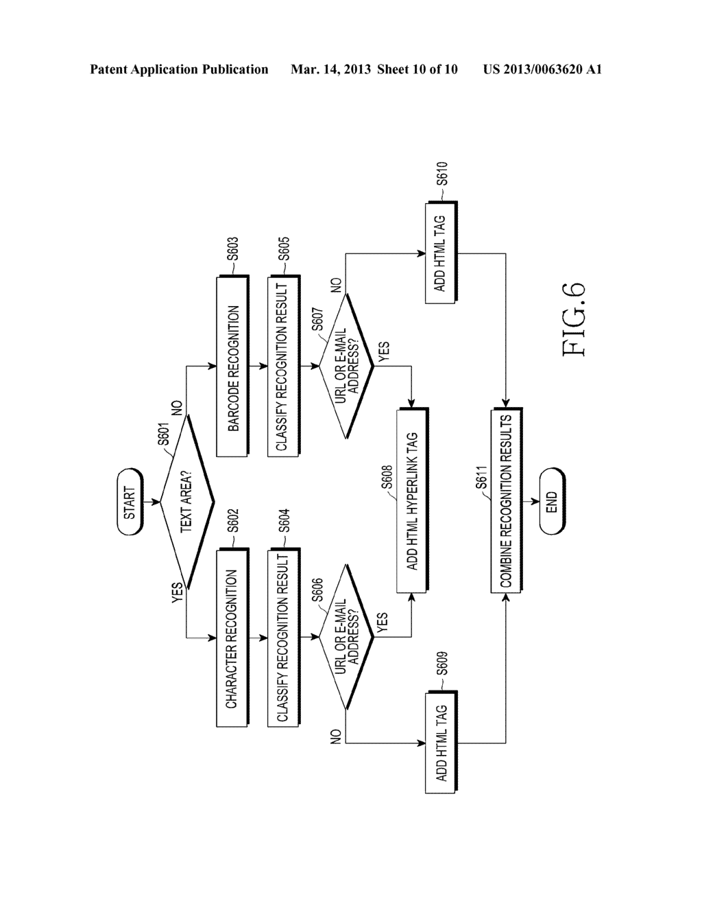 APPARATUS FOR RECOGNIZING CHARACTER AND BARCODE SIMULTANEOUSLY AND METHOD     FOR CONTROLLING THE SAME - diagram, schematic, and image 11