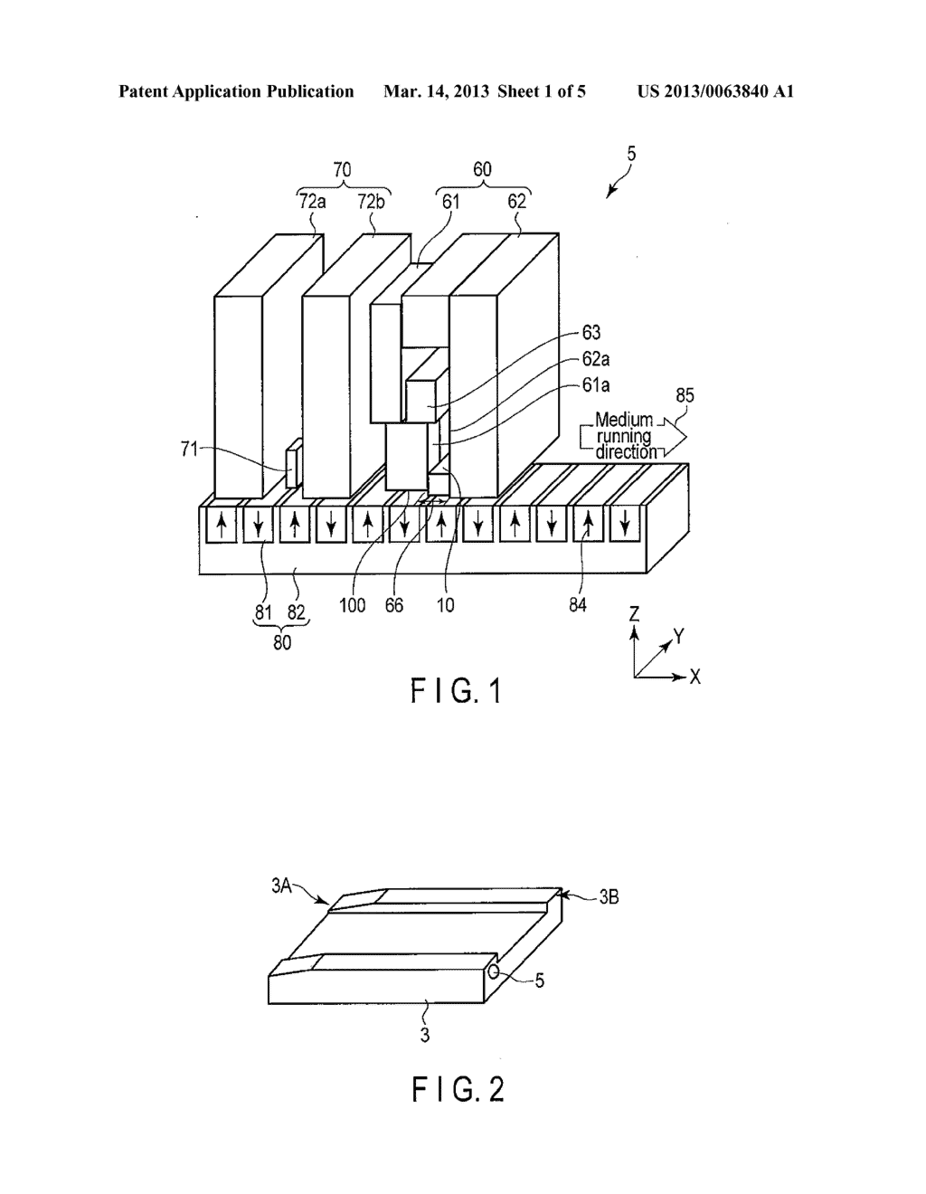 MAGNETIC HEAD AND MAGNETIC RECORDING AND REPRODUCING DEVICE - diagram, schematic, and image 02