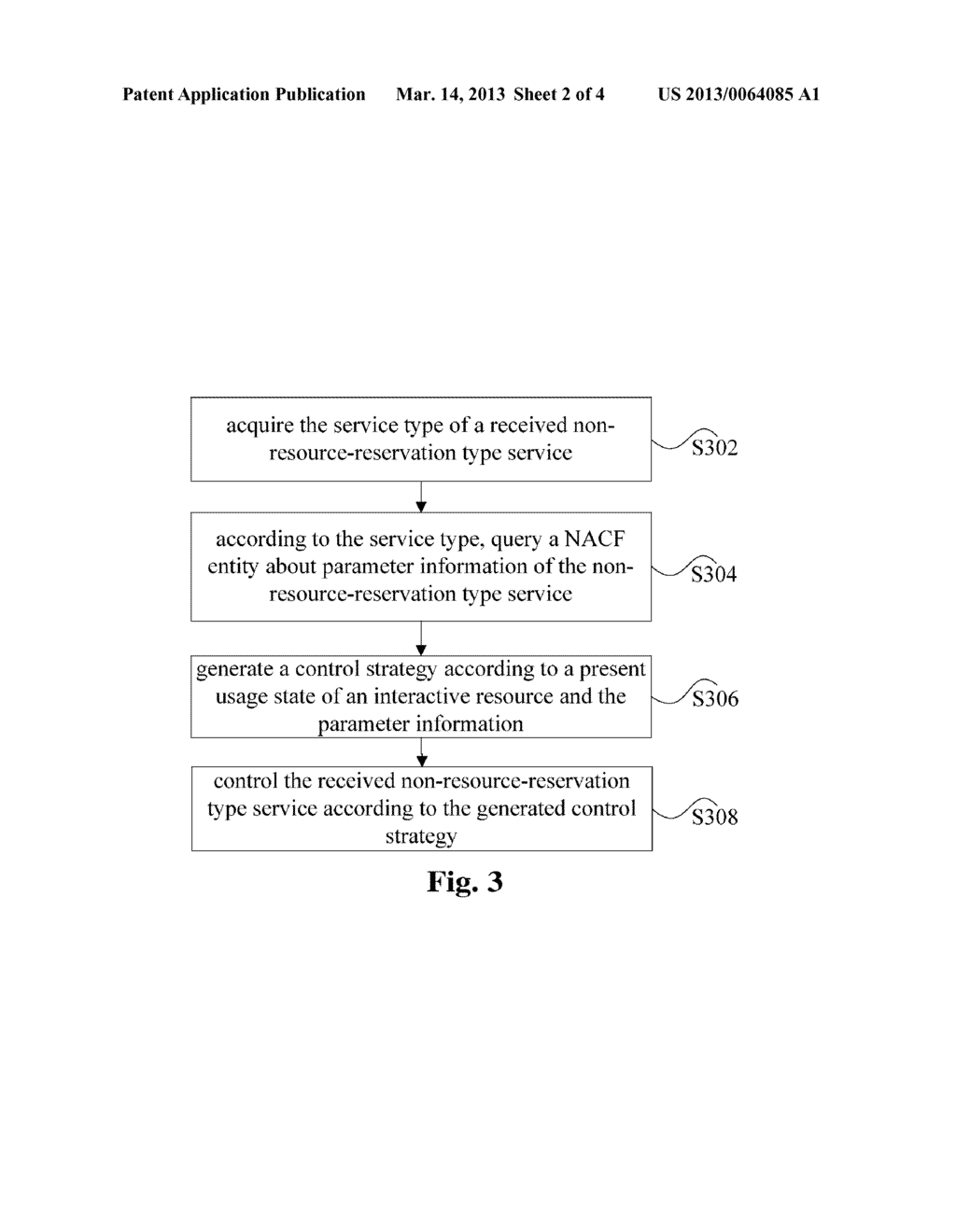 METHOD, APPARATUS AND SYSTEM FOR PROCESSING NON-RESOURCE RESERVATION TYPE     SERVICE - diagram, schematic, and image 03