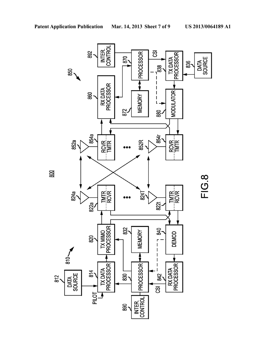 APPARATUS AND METHOD FOR MOBILE ASSISTED REVERSE LINK INTERFERENCE     MANAGEMENT - diagram, schematic, and image 08