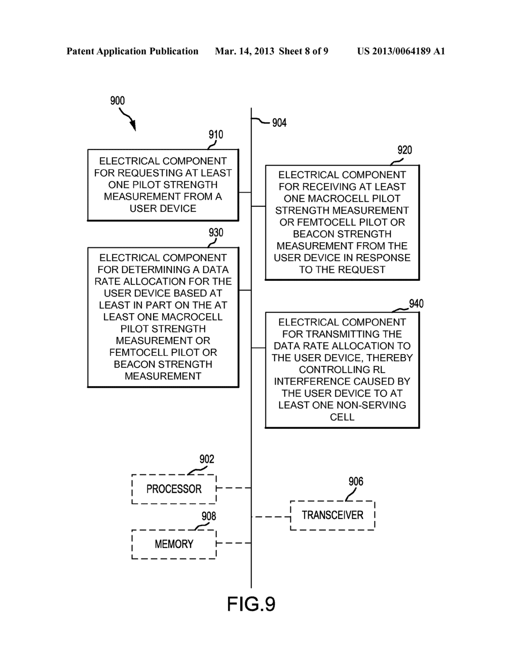 APPARATUS AND METHOD FOR MOBILE ASSISTED REVERSE LINK INTERFERENCE     MANAGEMENT - diagram, schematic, and image 09