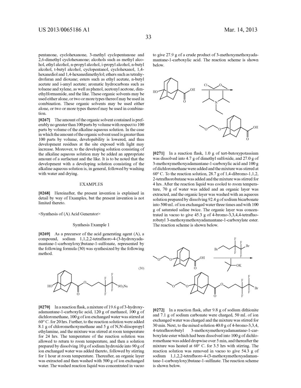 RADIATION-SENSITIVE RESIN COMPOSITION, METHOD FOR FORMING RESIST PATTERN,     ORGANIC ACID AND ACID GENERATING AGENT - diagram, schematic, and image 34