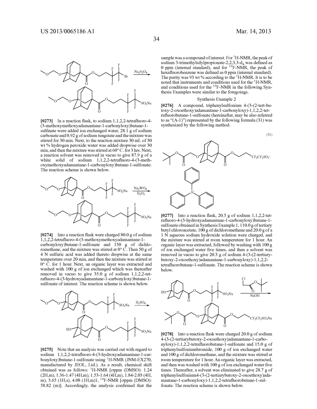 RADIATION-SENSITIVE RESIN COMPOSITION, METHOD FOR FORMING RESIST PATTERN,     ORGANIC ACID AND ACID GENERATING AGENT - diagram, schematic, and image 35