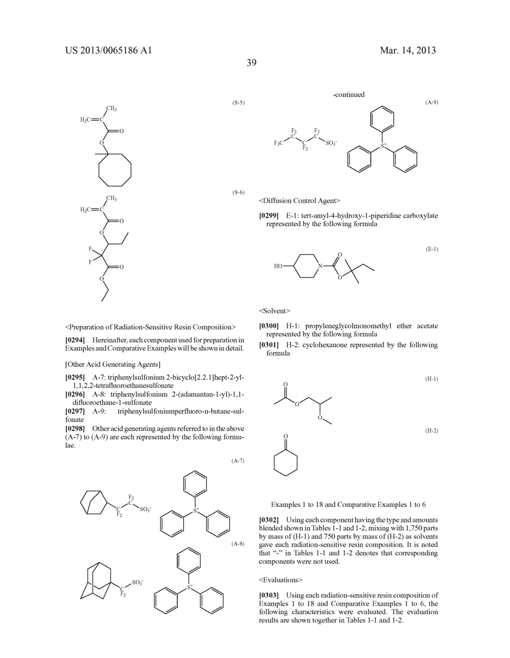 RADIATION-SENSITIVE RESIN COMPOSITION, METHOD FOR FORMING RESIST PATTERN,     ORGANIC ACID AND ACID GENERATING AGENT - diagram, schematic, and image 40