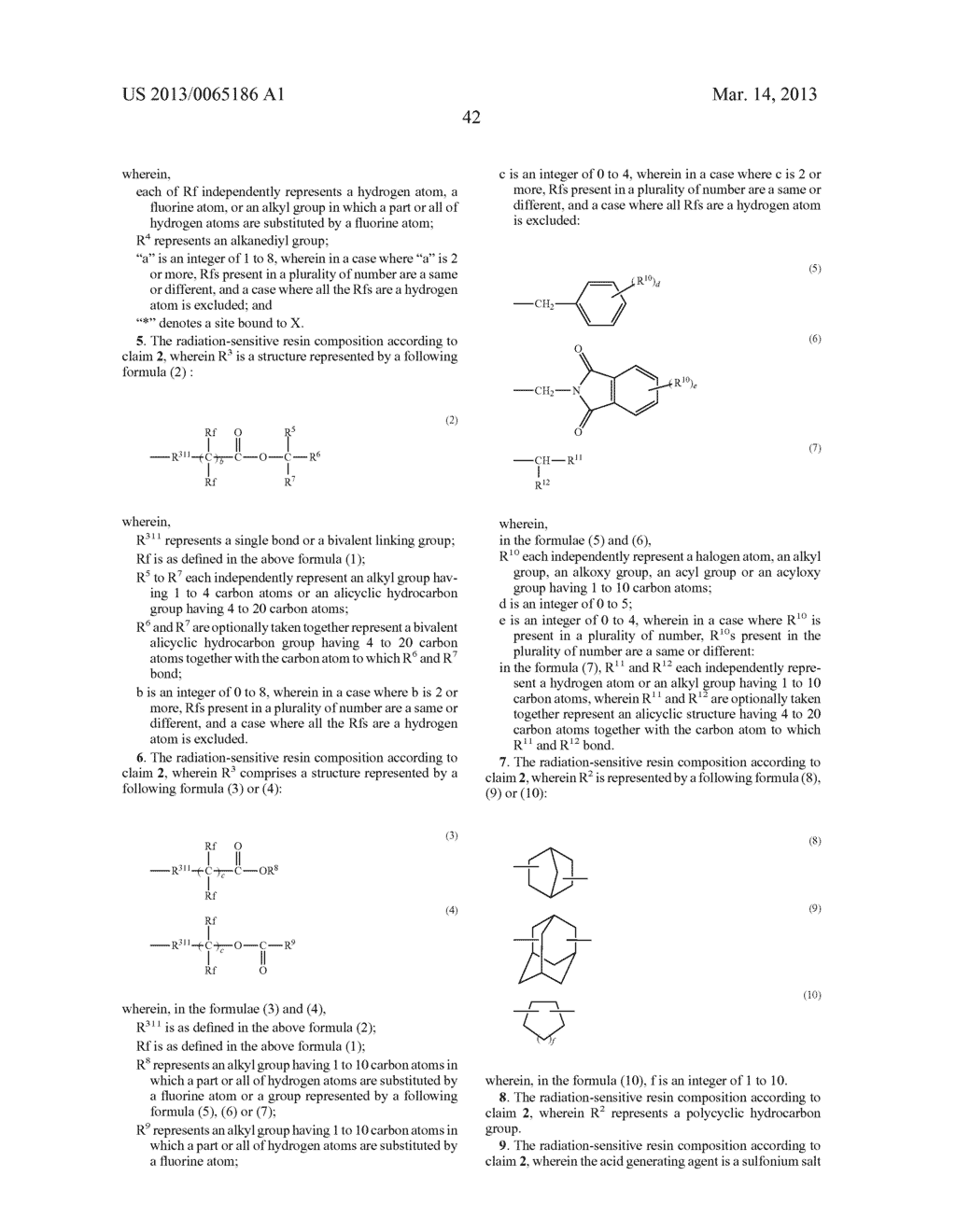 RADIATION-SENSITIVE RESIN COMPOSITION, METHOD FOR FORMING RESIST PATTERN,     ORGANIC ACID AND ACID GENERATING AGENT - diagram, schematic, and image 43