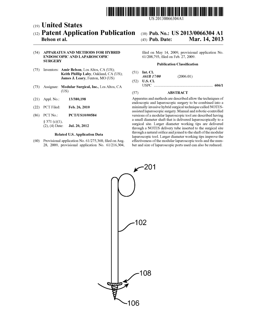 APPARATUS AND METHODS FOR HYBRID ENDOSCOPIC AND LAPAROSCOPIC SURGERY - diagram, schematic, and image 01