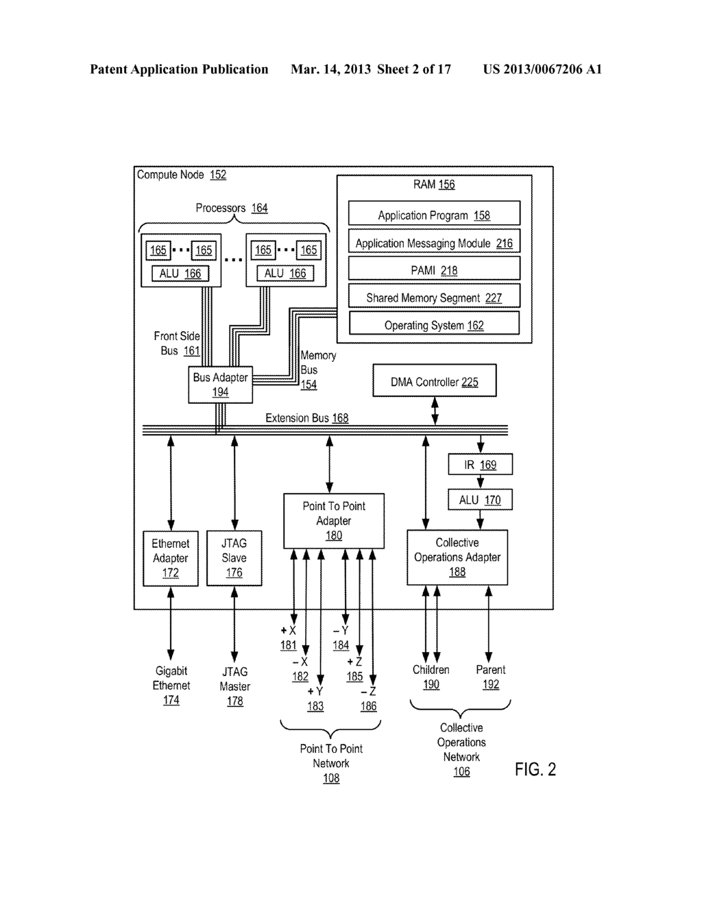Endpoint-Based Parallel Data Processing In A Parallel Active Messaging     Interface Of A Parallel Computer - diagram, schematic, and image 03