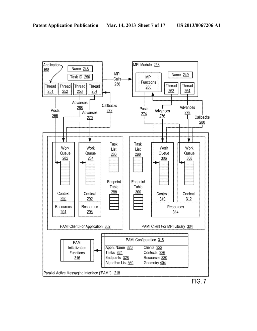 Endpoint-Based Parallel Data Processing In A Parallel Active Messaging     Interface Of A Parallel Computer - diagram, schematic, and image 08