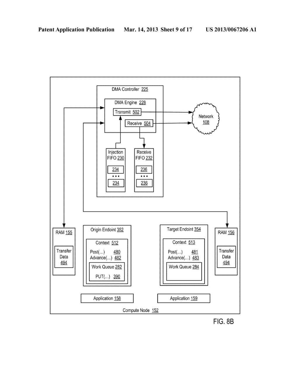 Endpoint-Based Parallel Data Processing In A Parallel Active Messaging     Interface Of A Parallel Computer - diagram, schematic, and image 10