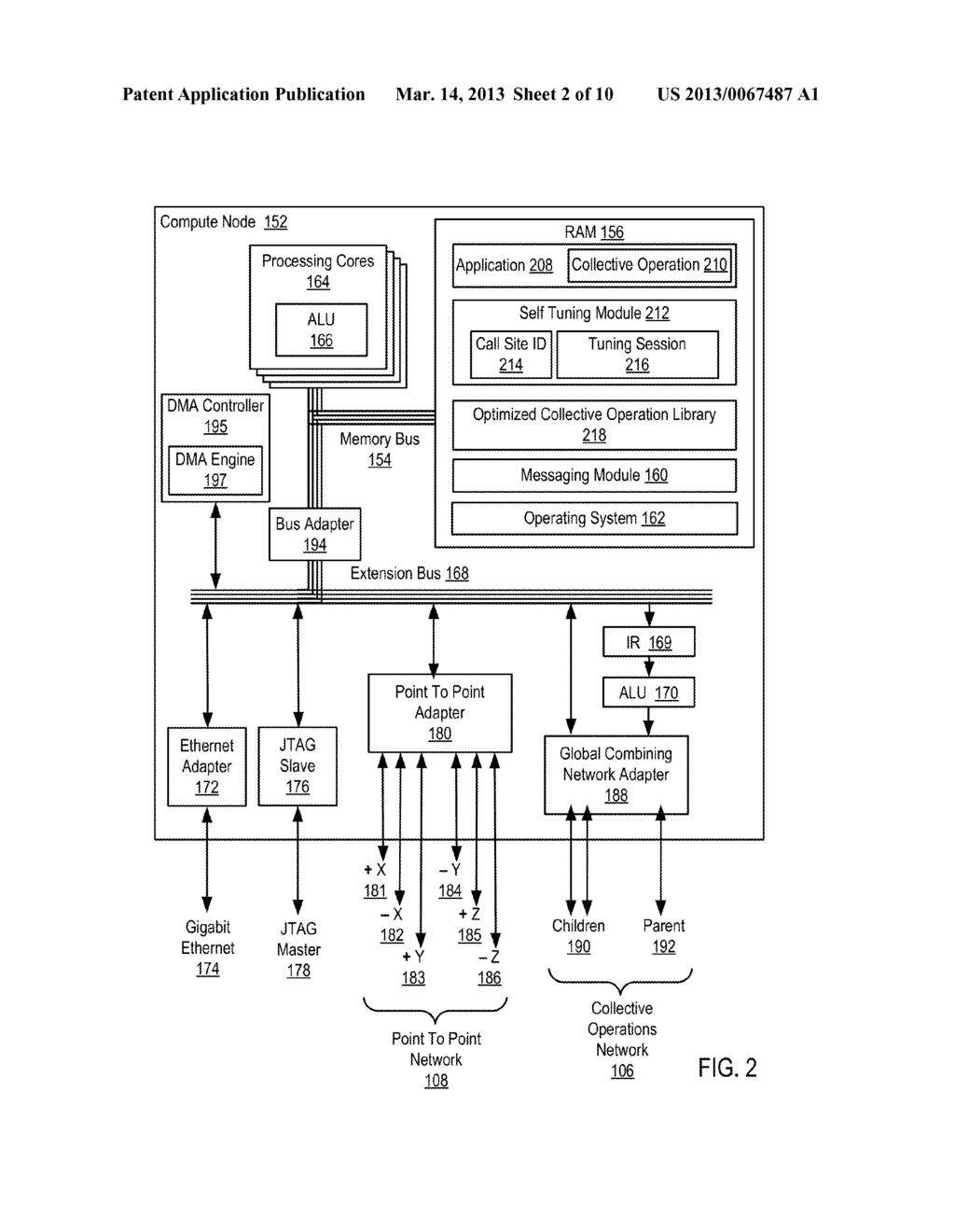 Runtime Optimization Of An Application Executing On A Parallel Computer - diagram, schematic, and image 03