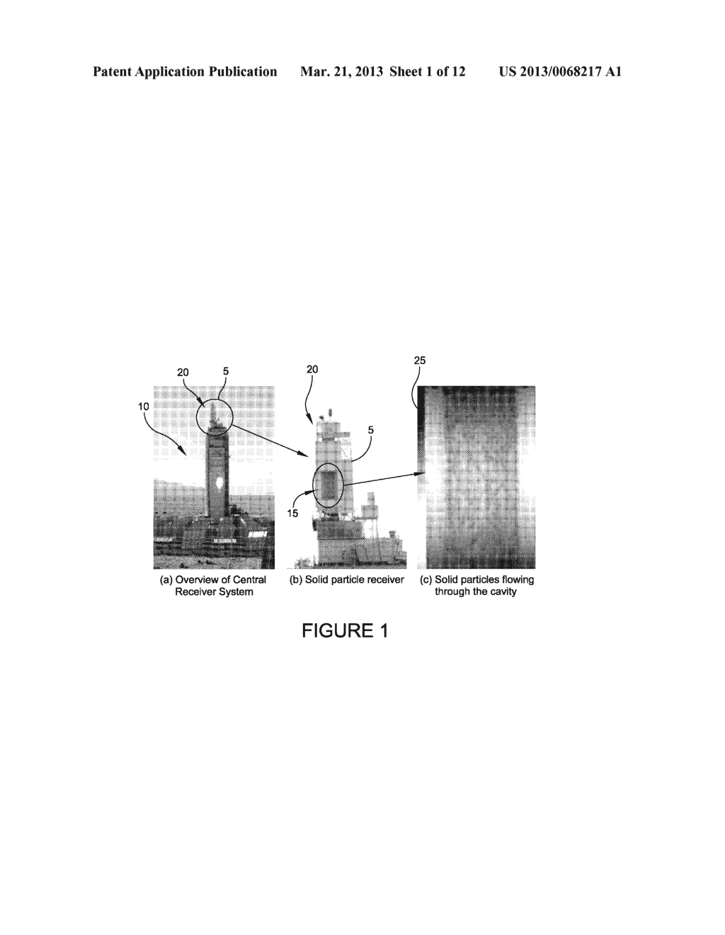 SOLID PARTICLE RECEIVER WITH POROUS STRUCTURE FOR FLOW REGULATION AND     ENHANCEMENT OF HEAT TRANSFER - diagram, schematic, and image 02