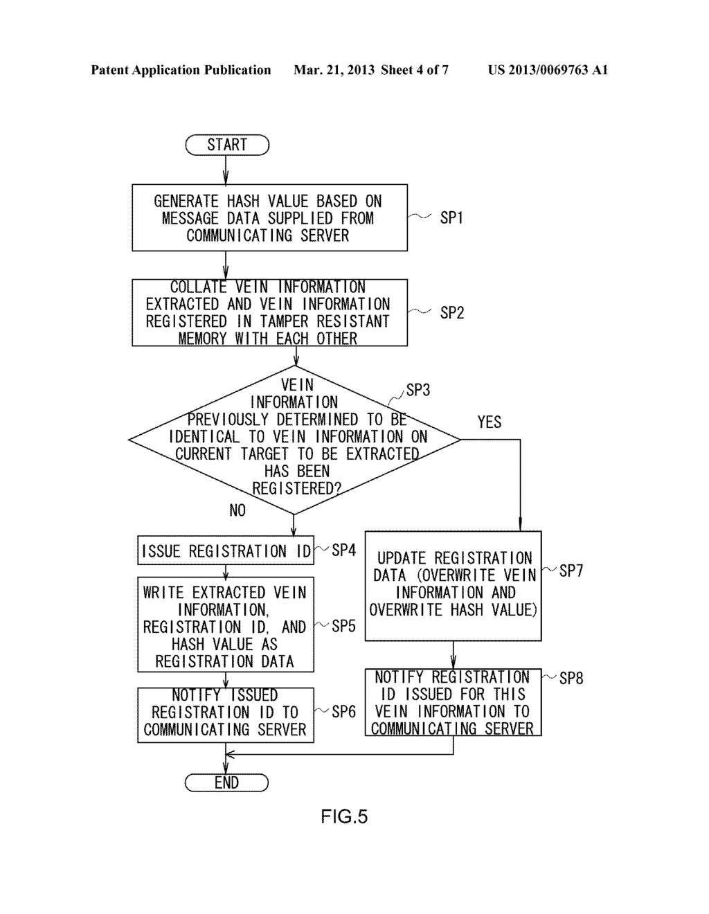 BIOLOGICAL INFORMATION STORING APPARATUS, BIOLOGICAL AUTHENTICATION     APPARATUS, DATA STRUCTURE FOR BIOLOGICAL AUTHENTICATION, AND BIOLOGICAL     AUTHENTICATION METHOD - diagram, schematic, and image 05