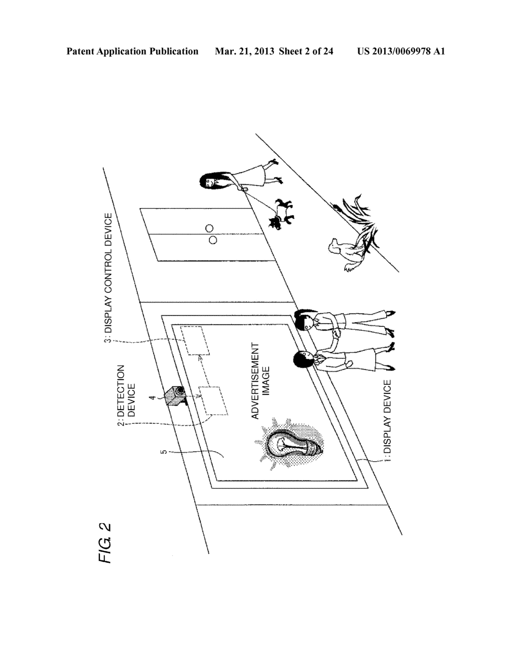 DETECTION DEVICE, DISPLAY CONTROL DEVICE AND IMAGING CONTROL DEVICE     PROVIDED WITH THE DETECTION DEVICE, BODY DETECTION METHOD, AND RECORDING     MEDIUM - diagram, schematic, and image 03